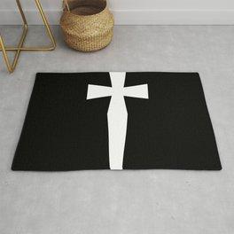 Dagger (White & Black) Rug