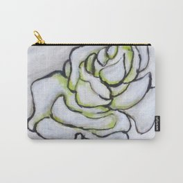Stunning White Rose Carry-All Pouch