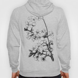 Cherry Blossoms Minimal Drawing Hoody