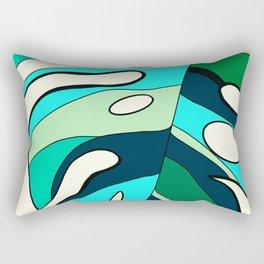 Blue cool monstera plant Rectangular Pillow