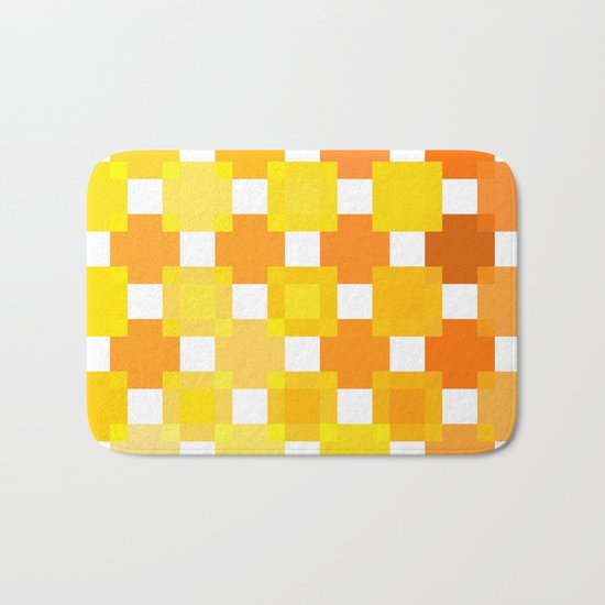50 Squares of YELLOW - Living Hell Bath Mat