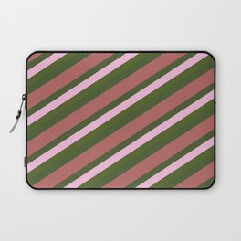Pink Roses in Anzures 5  Stripes 4D Laptop Sleeve