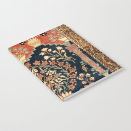 Kashan Poshti  Antique Central Persian Rug Print Notebook
