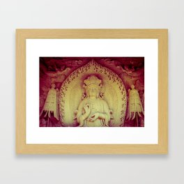 Fire Within. Hong Kong deity Framed Art Print