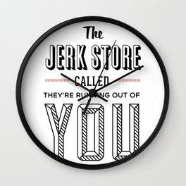Jerk Store Wall Clock
