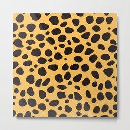 Cheetah Pattern_A Metal Print