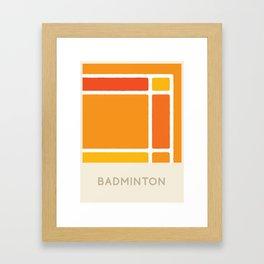 Badminton (Sports Surfaces Series, No. 4) Framed Art Print