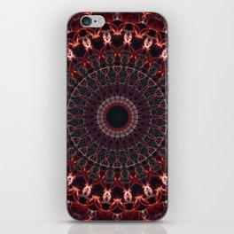 Ruby mandala iPhone Skin