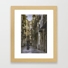 Old City Lane Framed Art Print