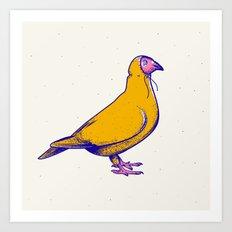 Pigeon in hoodie Art Print