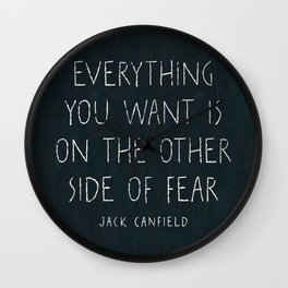 I. The other side of fear. Wall Clock