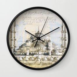 Blue Mosque, Istanbul Turkey Wall Clock