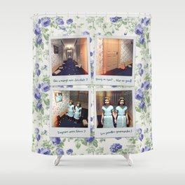 Jumelles et Chocolat Shower Curtain
