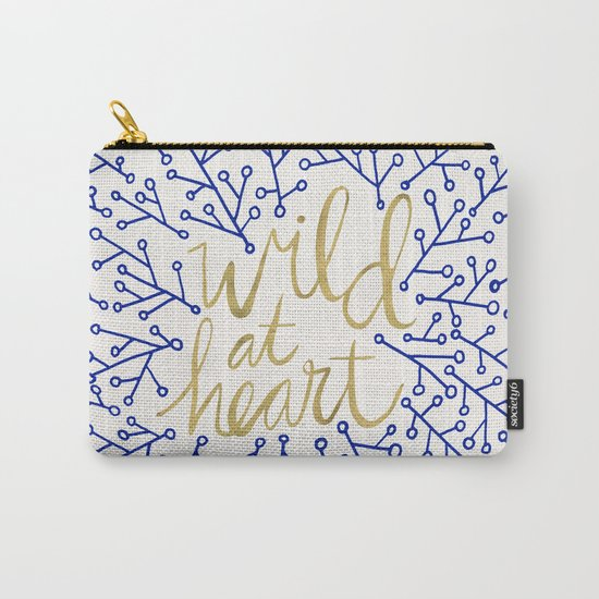Wild at Heart – Navy & Gold Carry-All Pouch