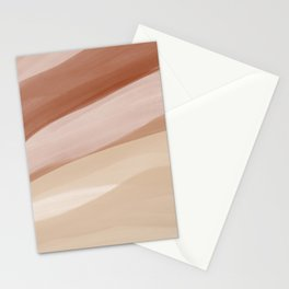Abstract Watercolor Desert Stationery Cards