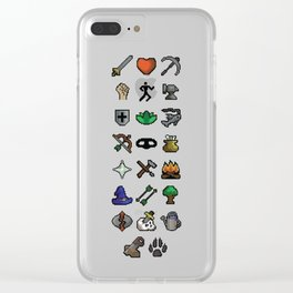 Old School Runescape Skills Clear iPhone Case