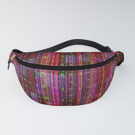 Ruby Glitch Abstract Fanny Pack