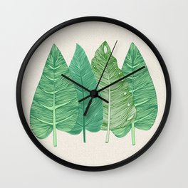 Palmito Linen Wall Clock