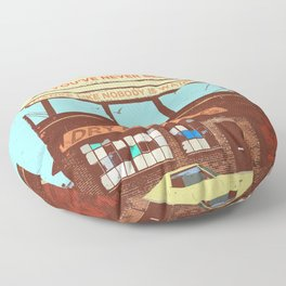 SUMMER CRUISER (WORK LIKE YOU DON'T NEED MONEY) Floor Pillow