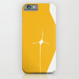 Yellow in nude iPhone Case
