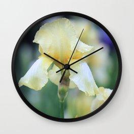 Yellow Iris Wall Clock