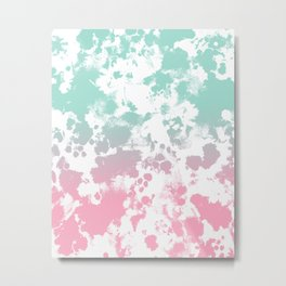 Margot - abstract painting mint and pink pastel trendy girly home decor dorm college gifts Metal Print