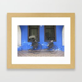 Blue Mansion in Penang, Malaysia (2013a) Framed Art Print