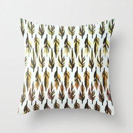 Boho Feather Pattern Throw Pillow