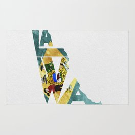 Delaware Typographic Flag Map Art Rug
