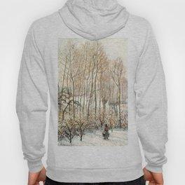 "Camille Pissarro ""Morning Sunlight on the Snow, Éragny-sur-Epte"" Hoody"
