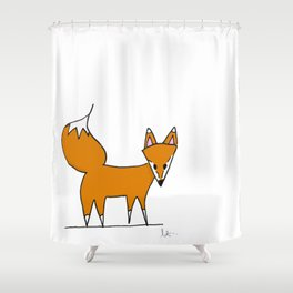 Mr. Fox II Shower Curtain