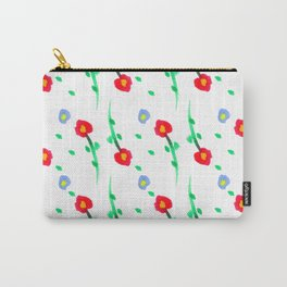Doodle: flowers pattern Carry-All Pouch