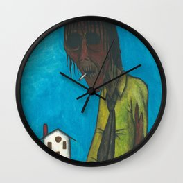 The junkie under the sun Wall Clock