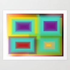 Four estaciones Art Print