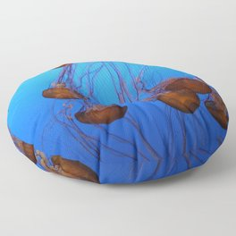 Floating In Blue Water Floor Pillow