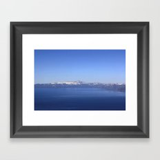 Mt Rose and Slide Mt Framed Art Print