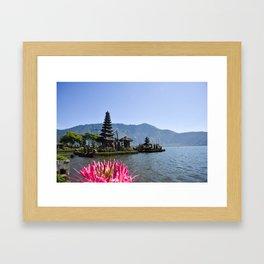 Ulun Banu Beratan Temple Bali Indonesia Framed Art Print