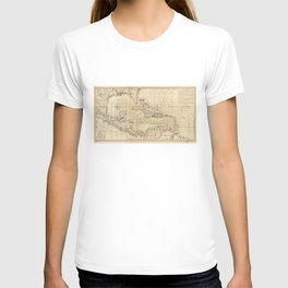 Map of the Caribbean Area (1789) T-shirt