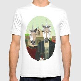 American Gothic Unicorn T-shirt