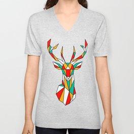 deer low polygon Unisex V-Neck