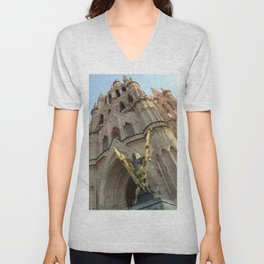 Church of San MIguel de allende II Unisex V-Neck