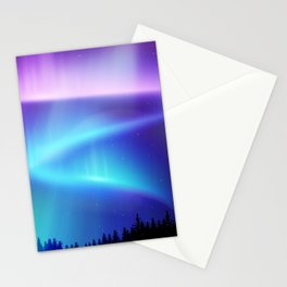 Aurora Synthwave #12 Stationery Cards