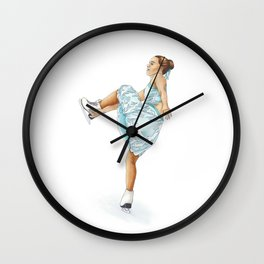 Figure Skating Heel Grab Wall Clock