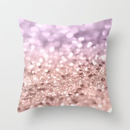 Rose Gold Blush Purple MERMAID Girls Glitter #1 #shiny #decor #art #society6 Throw Pillow