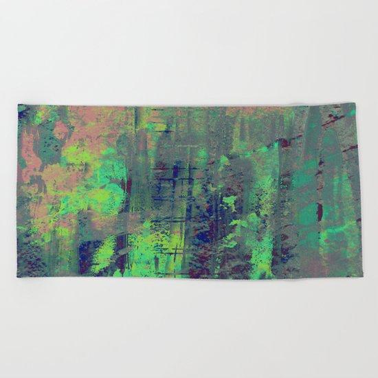 Aqua Abstract Beach Towel
