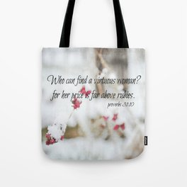 Proverbs 31 Virtuous Woman Tote Bag