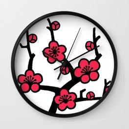 Japanese Plum Tree Wall Clock