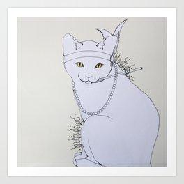 Rad Cat Art Print