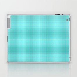 Aqua or Cyan Gingham Laptop & iPad Skin