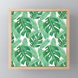Tropical Leaf Pattern Framed Mini Art Print